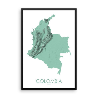 Colombia Map 3D Mint-Topographic Map