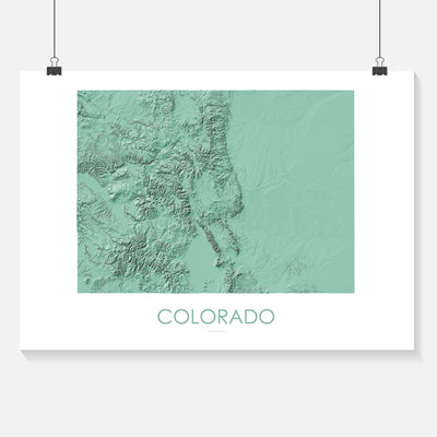 Colorado Map 3D Mint