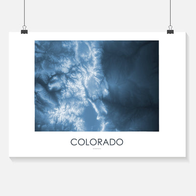 Colorado Map Midnight Blue