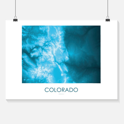 Colorado Map Petroleum Blue