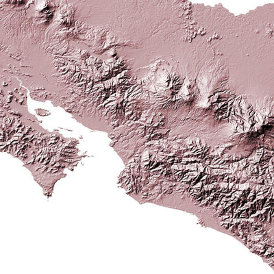 Costa Rica Map 3D Rose
