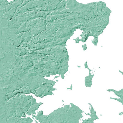 Denmark Topographic Map.Denmark Topographic Wall Art Map Mapscaping Com