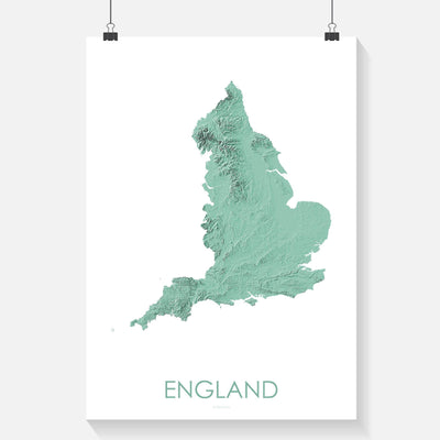 England Map 3D Mint