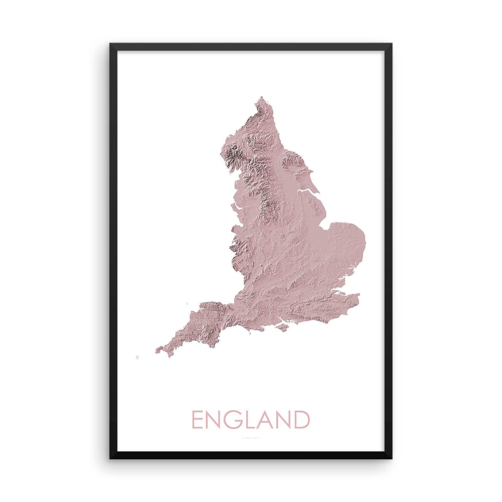 England Map 3D Rose