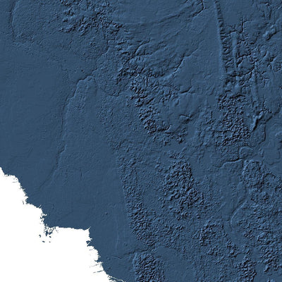 Florida Map 3D Midnight Blue-Topographic Map