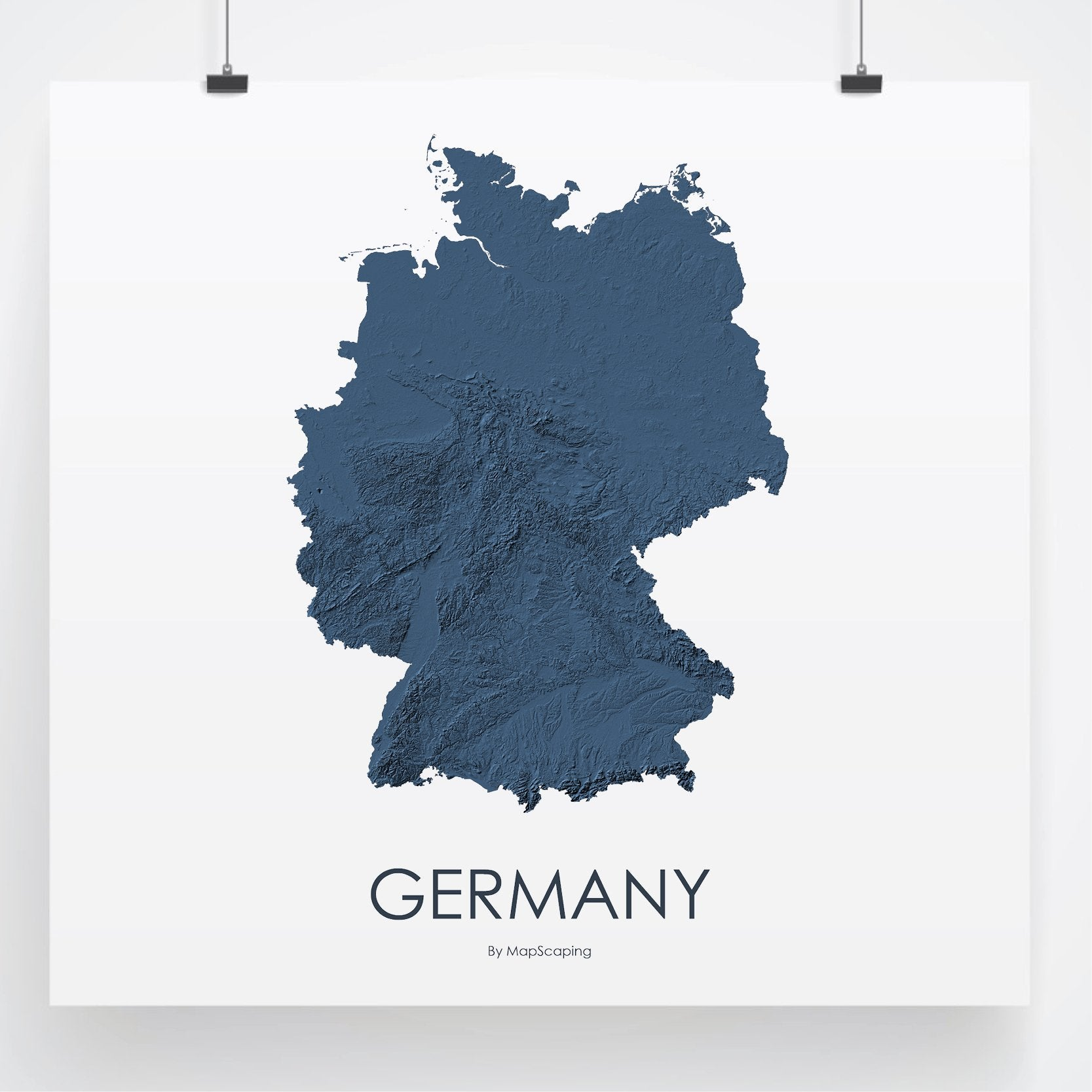 Germany On Map Of World.Germany Map 3d Midnight Blue