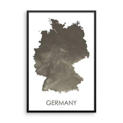 Germany Map Slate-Topographic Map