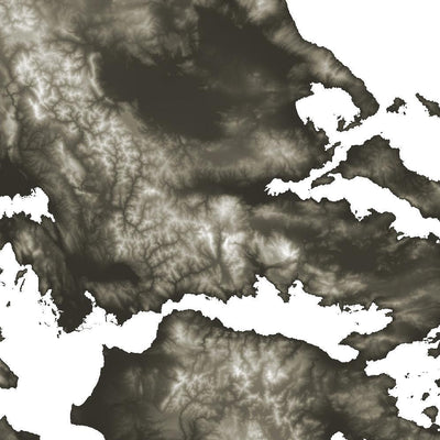 Greece Map Slate-Topographic Map
