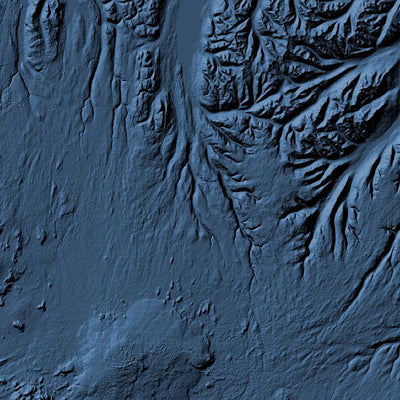Iceland Poster 3D Midnight Blue-topographic wall art map by MapScaping