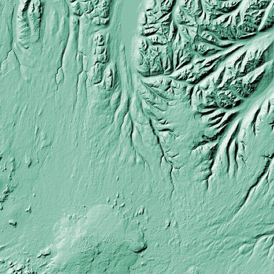 Iceland Poster 3D Mint-topographic wall art map by MapScaping