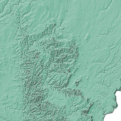 Indiana Poster 3D Mint-topographic wall art map by MapScaping
