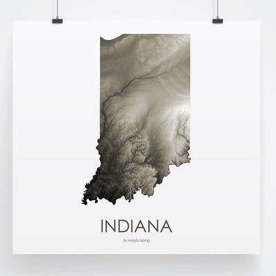 Indiana Map Slate-Topographic Map