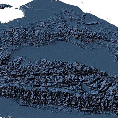 Indonesia Poster 3D Midnight Blue-topographic wall art map by MapScaping
