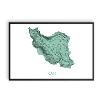 Iran Map 3D Mint-Topographic Map