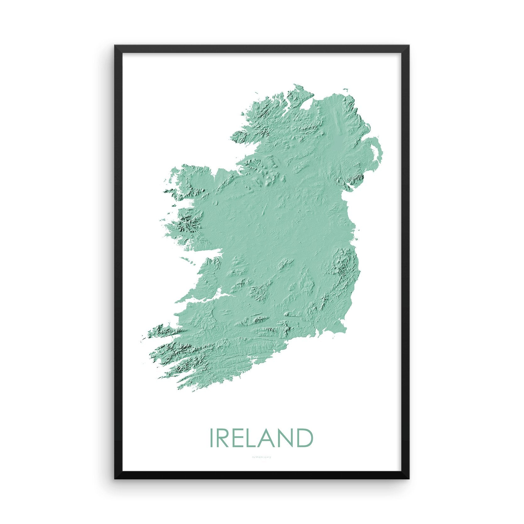 Ireland Map 3D Mint-Topographic Map