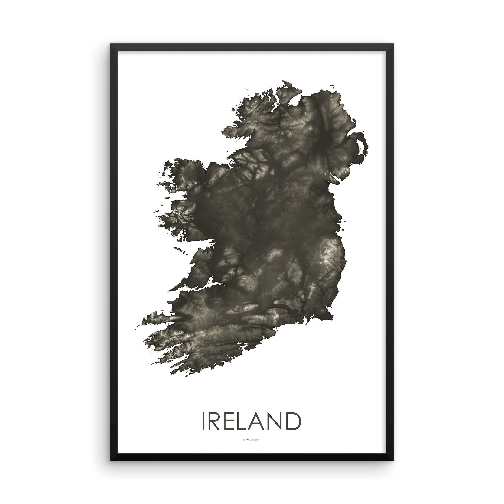Ireland Map Slate-Topographic Map