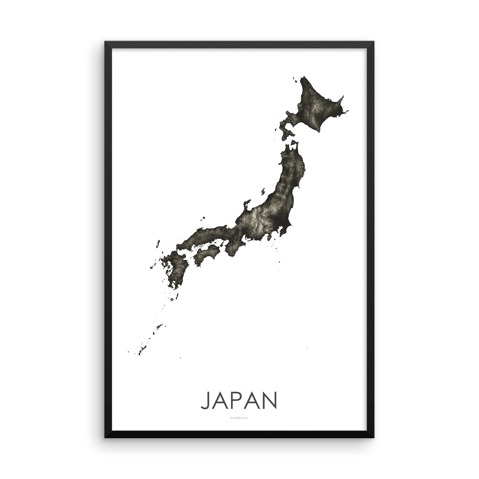 Japan Map Slate-Topographic Map