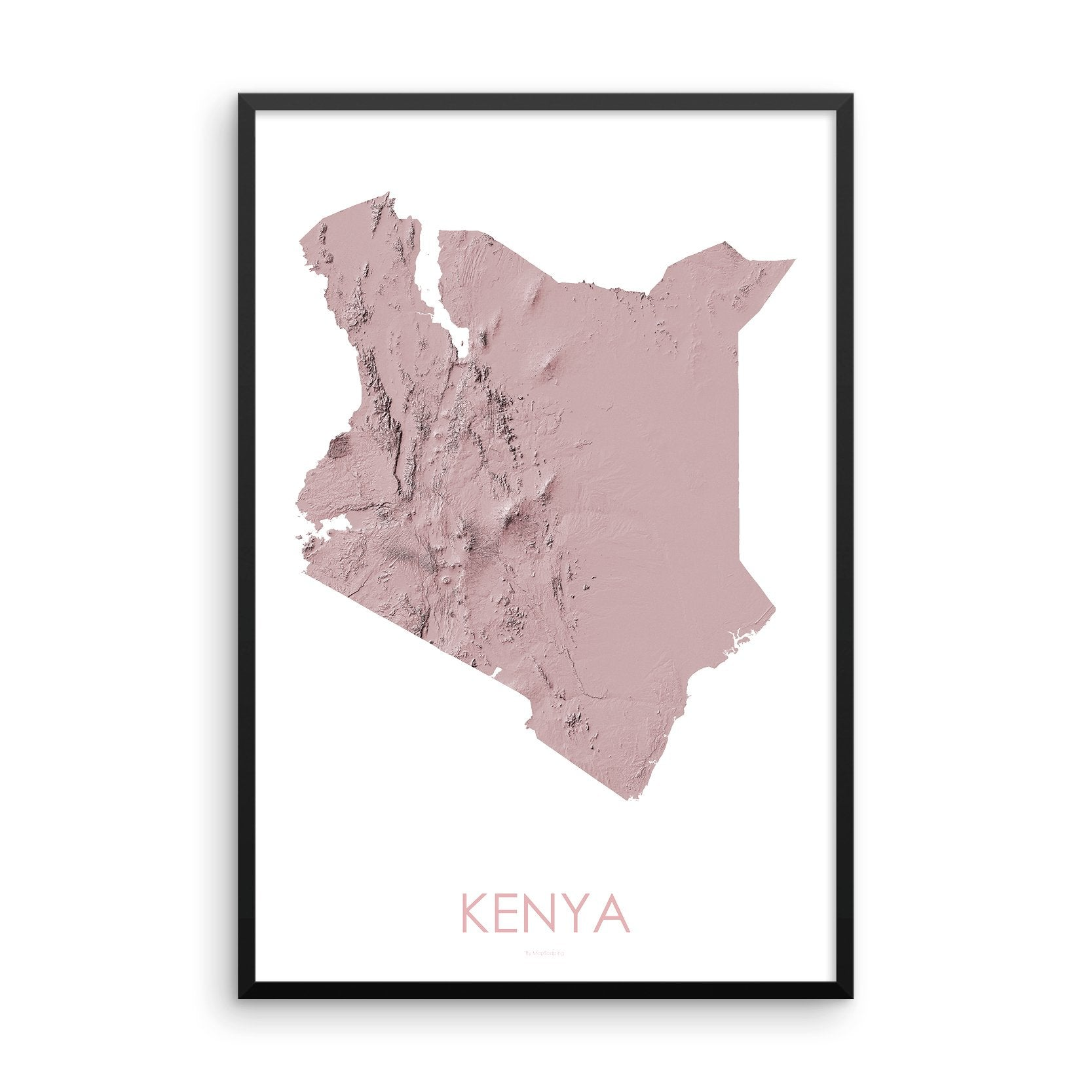Kenya Map 3D Rose