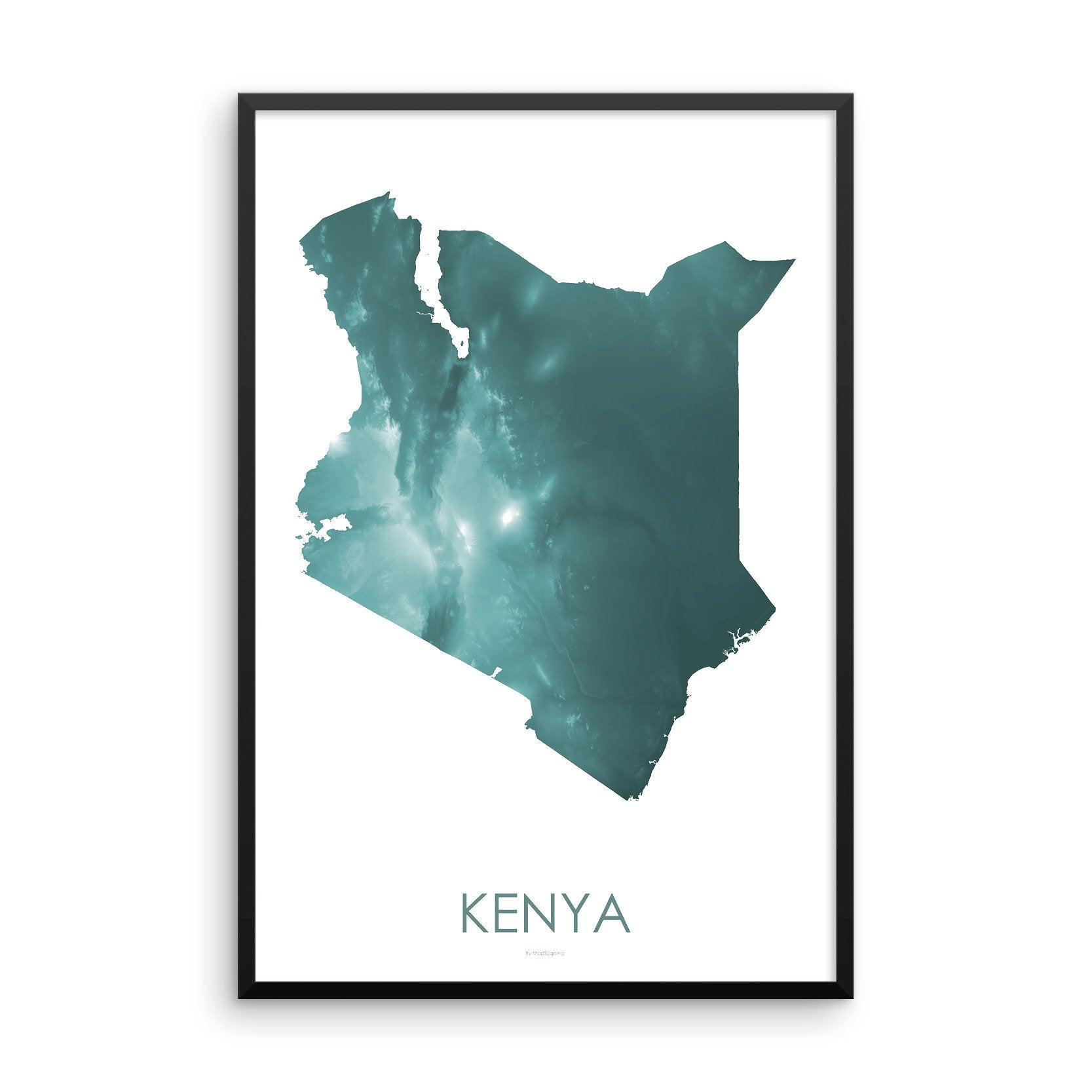 Kenya Map Teal