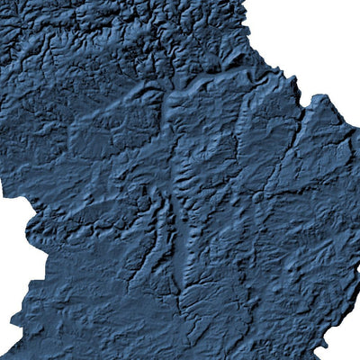 Luxembourg Map 3D Midnight Blue-Topographic Map