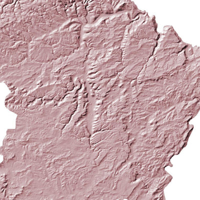 Luxembourg Map 3D Rose-Topographic Map