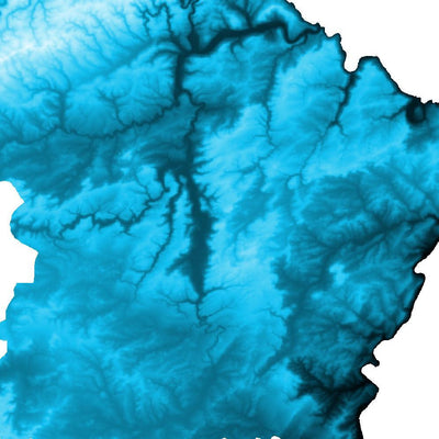 Luxembourg Map Petroleum Blue-Topographic Map