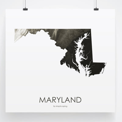 Maryland Map Slate-Topographic Map