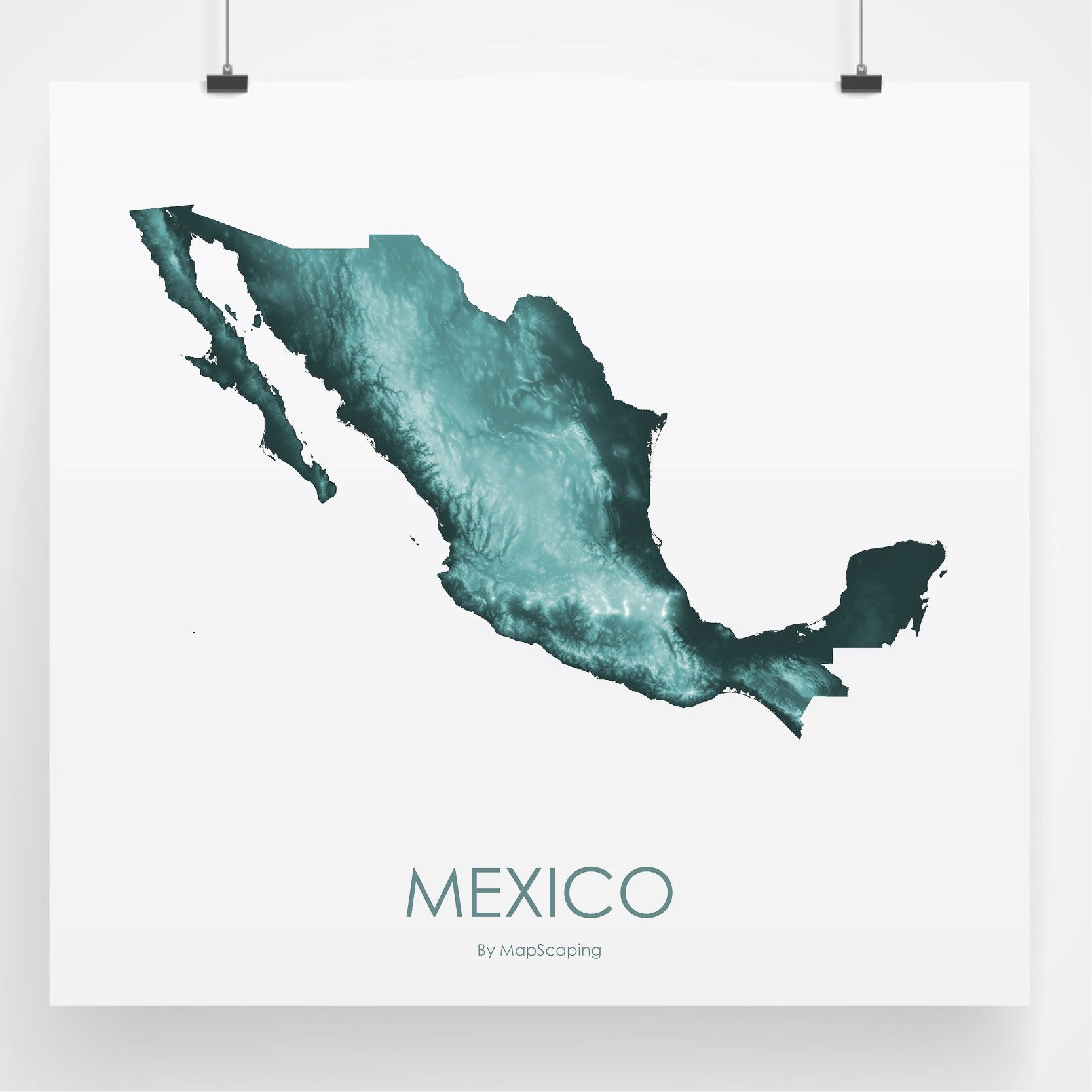 Mexico Map Teal