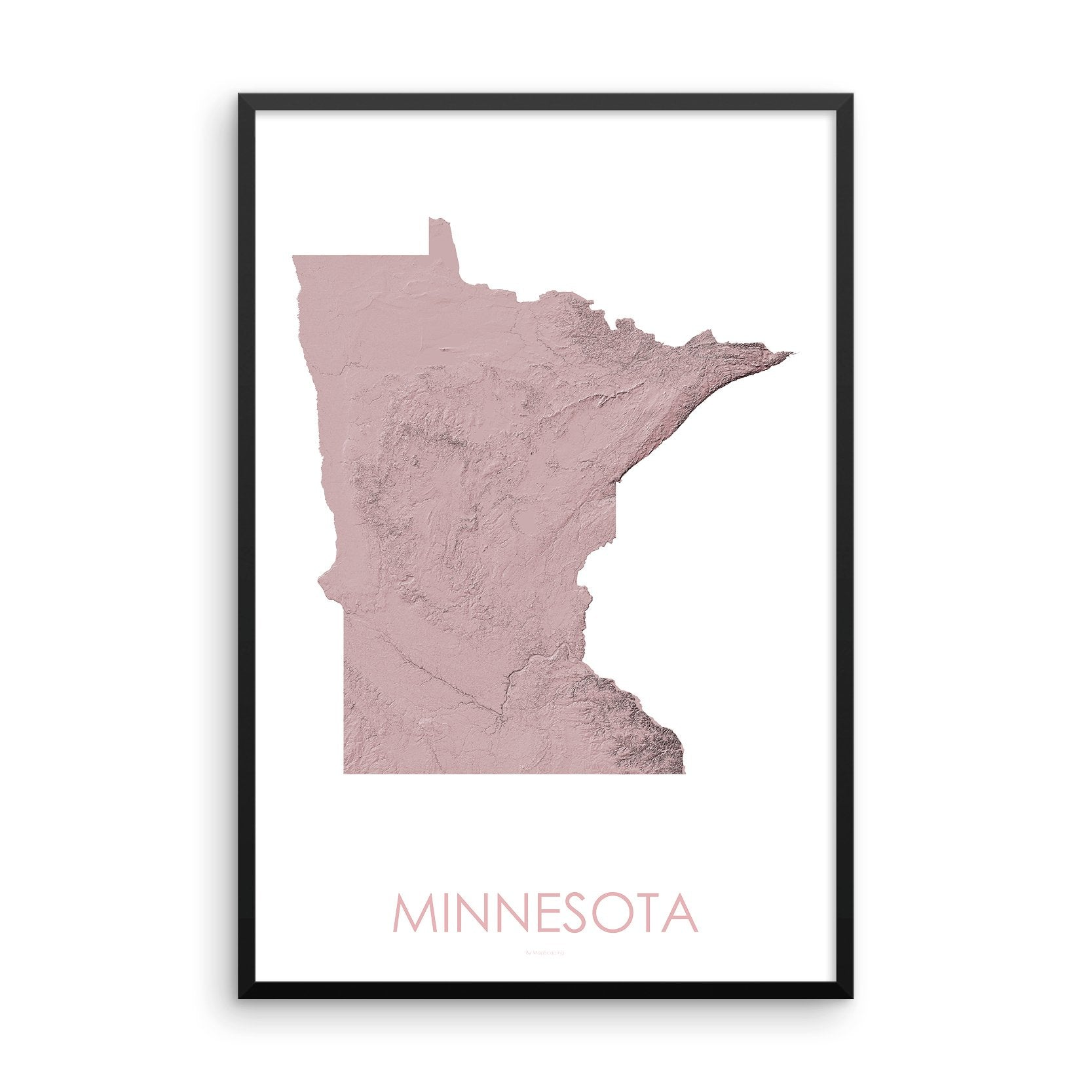 Minnesota Map 3D Rose