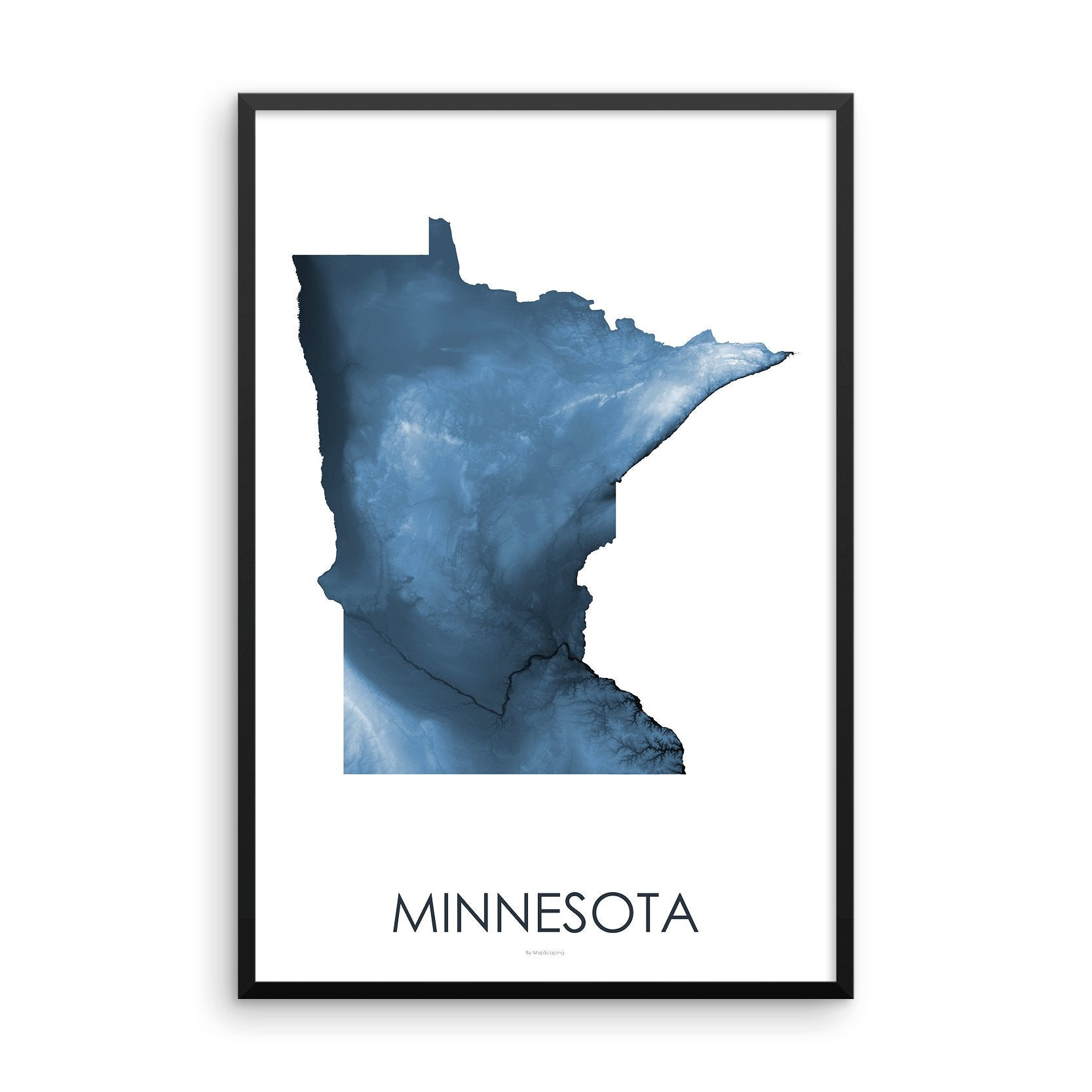 Minnesota Map Midnight Blue