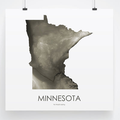 Minnesota Map Slate