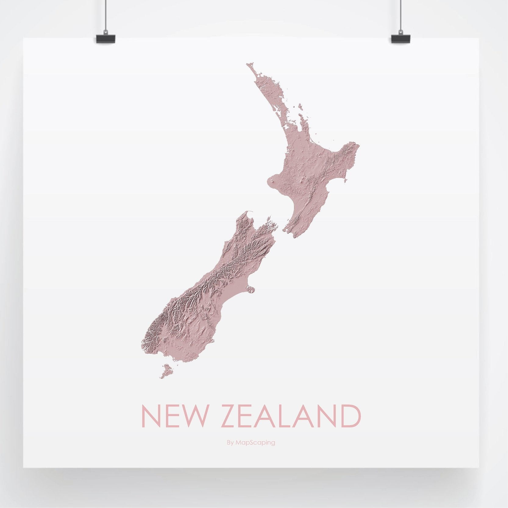 Map New Zealand South Island Detailed.Map Of New Zealand 3d Rose