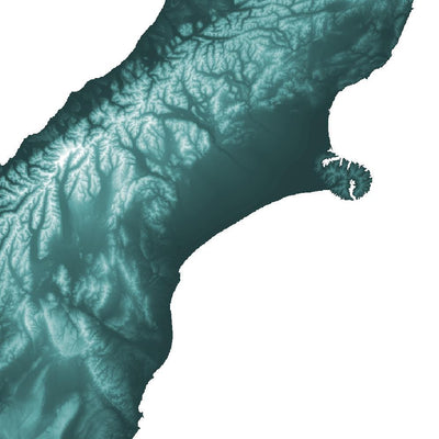New Zealand Map Teal