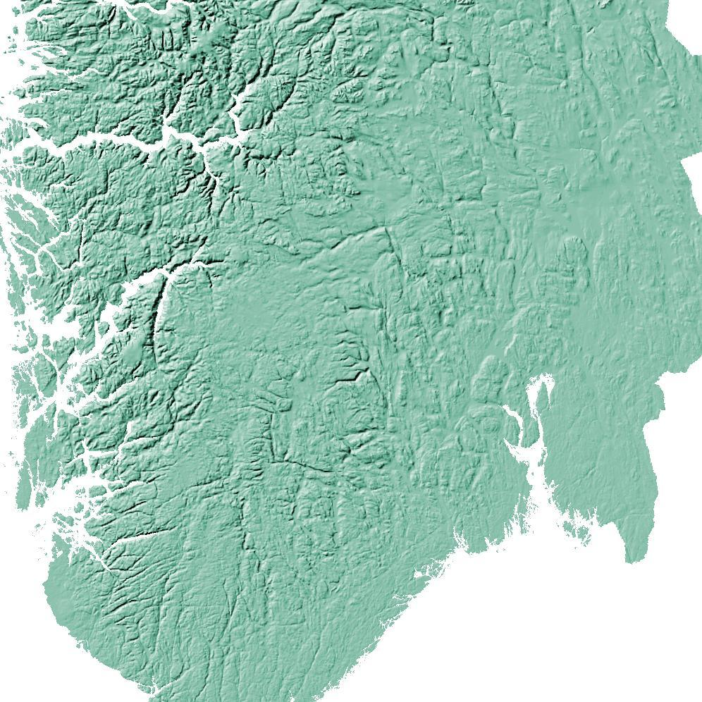 Norway Poster Solid Mint Topographic Map Art By Mapscaping