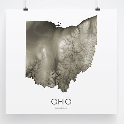 Ohio Map Slate-Topographic Map