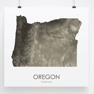 Oregon Map Slate-Topographic Map