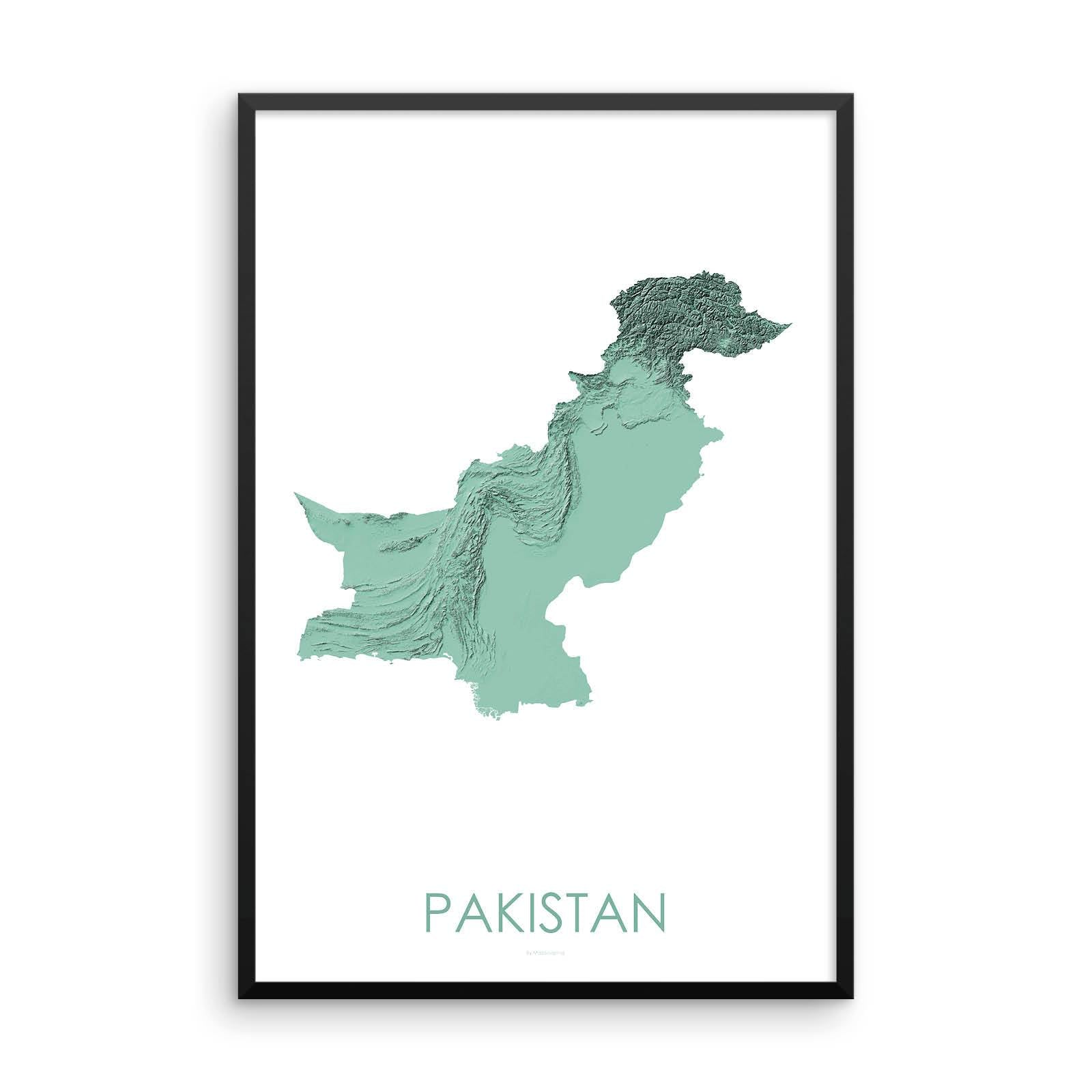 Pakistan Map 3D Mint