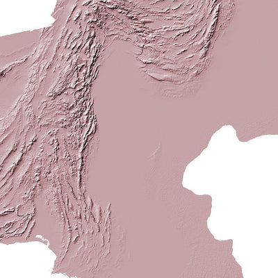 Pakistan Map 3D Rose