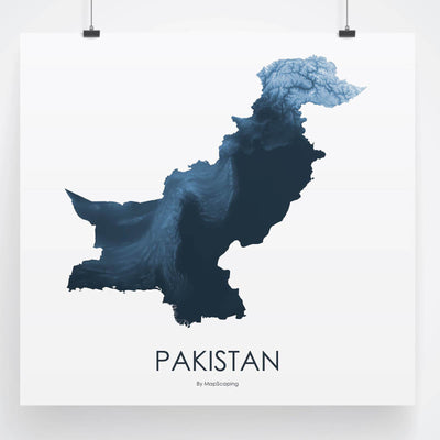 Pakistan Map Midnight Blue