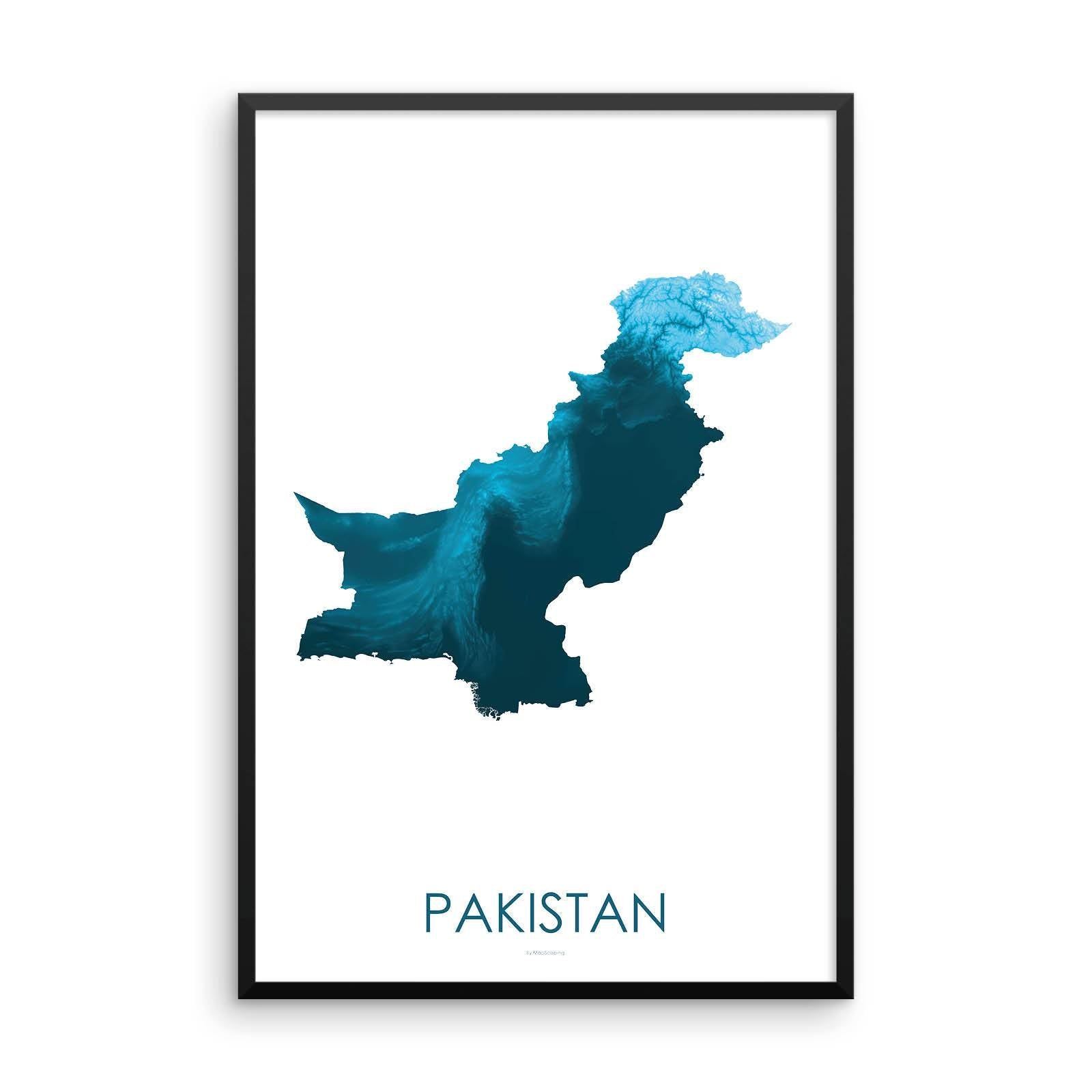 Pakistan Map Petroleum Blue