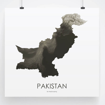 Pakistan Map Slate