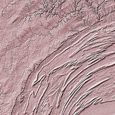 Pennsylvania Map 3D Rose-Topographic Map
