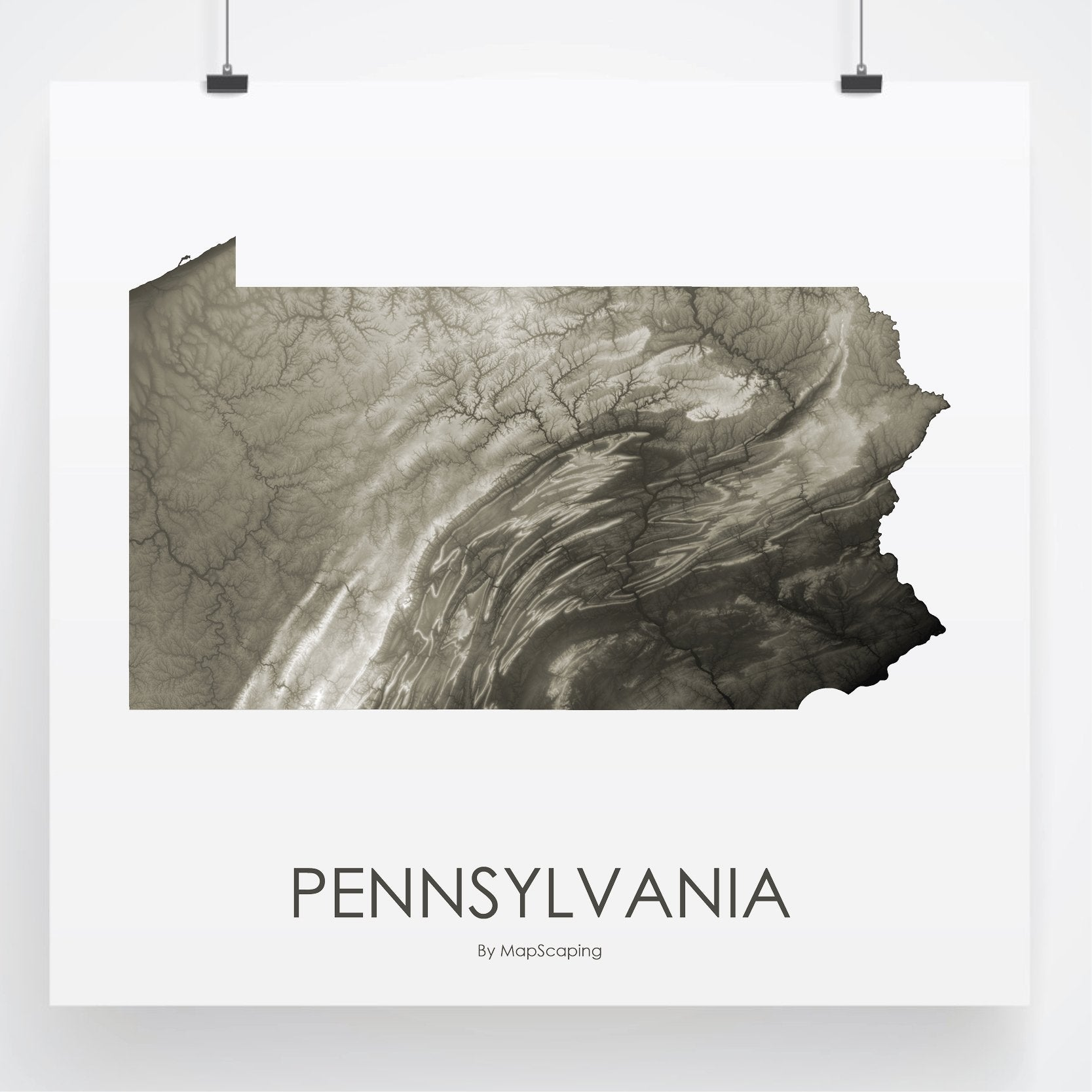 Pennsylvania Map Slate-Topographic Map