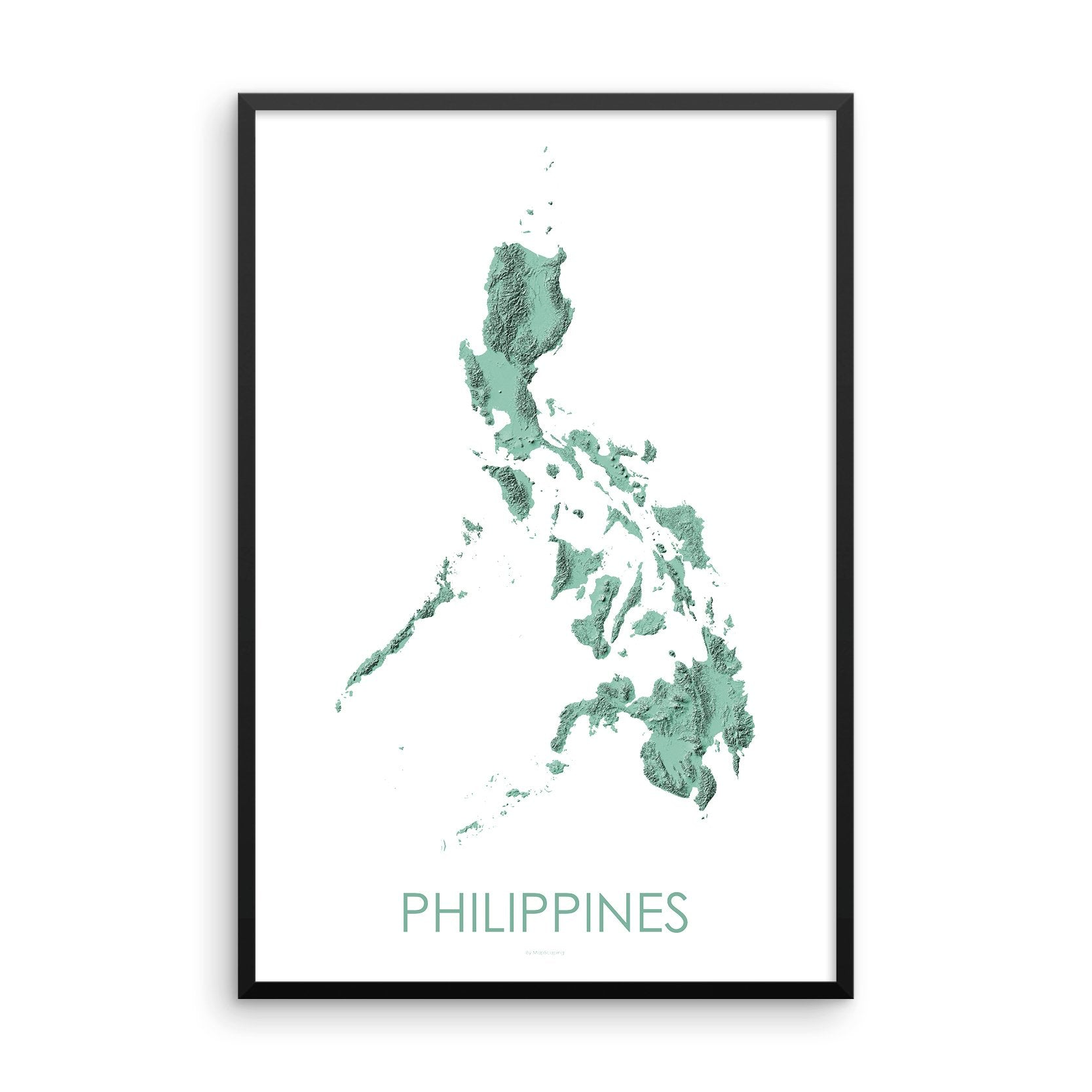 Philippines Map 3D Mint