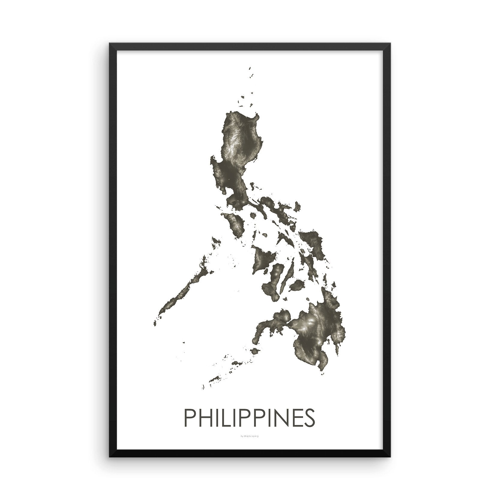 Philippines Map Slate