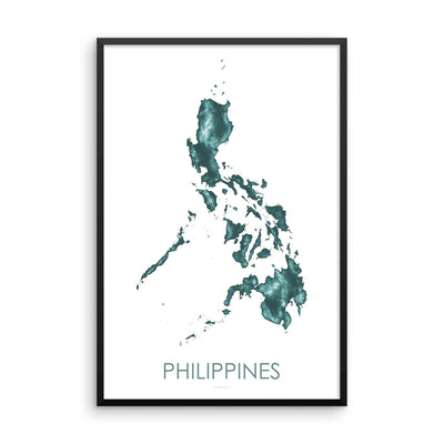 Philippines Map Teal