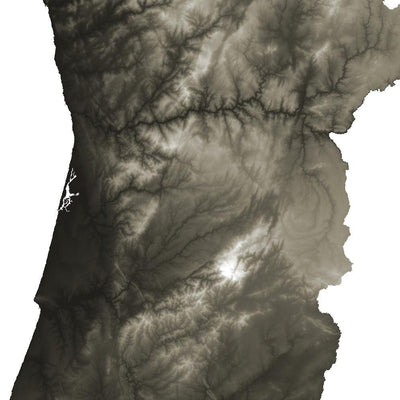 Portugal Map Slate-Topographic Map