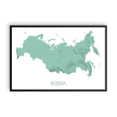 Russia Map 3D Mint-Topographic Map