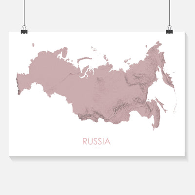 Russia Map 3D Rose-Topographic Map