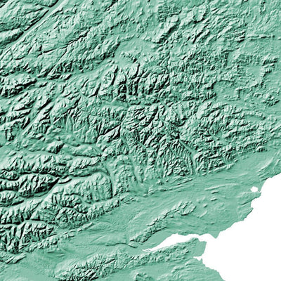 Scotland Map 3D Mint-Topographic Map